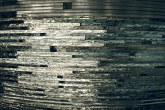 Texture glass. Mosaic. The composition of the glass stock photos