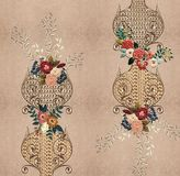 Texture gold embroidery flowers royalty free illustration