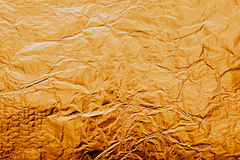 Texture of gold foil Stock Photography