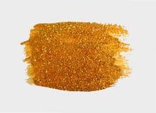 Texture golden brush. Modern Hand drawing gold brush. Golden paint. Handmade abstract glittering spot. Textured stroke stain. Luxurious Art smear. Sparkle Royalty Free Stock Photos