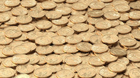 Texture of golden dollar coins Stock Images