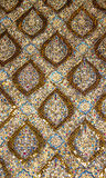 Texture of Golden Pattern of traditional Thai art Stock Photos