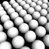 Texture Golf balls. Isolated in black background Royalty Free Stock Images
