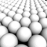 Texture Golf balls. Isolated in black background Stock Images