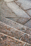 The texture of granite stairs Stock Photo