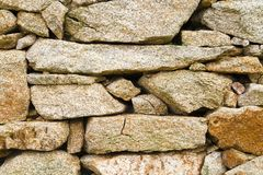 Texture of a granite stone wall I royalty free stock photo