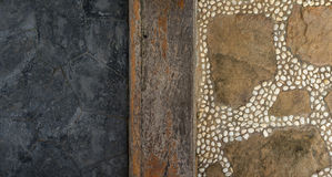 Texture of granite, wooden and stone walkway Stock Image