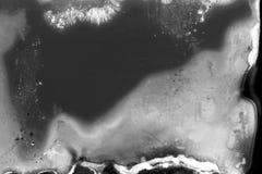 Texture granuleuse noire et blanche abstraite de bande de film Photo stock