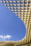 Texture graphic detail of Metropol Parasol in Plaza de la Encarn Stock Images