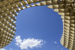 Texture graphic detail of Metropol Parasol in Plaza de la Encarn Royalty Free Stock Photo