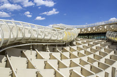 Texture graphic detail of Metropol Parasol Royalty Free Stock Images