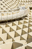 Texture graphic detail of Metropol Parasol Stock Photography