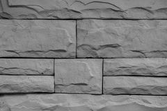 Texture of gray brick wall background. Stock Images