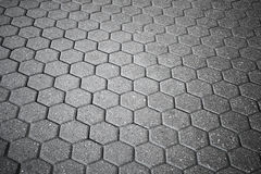 Texture of gray cellular cobblestone road Royalty Free Stock Photos