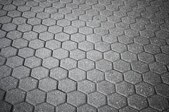 Texture of gray cellular cobblestone road Royalty Free Stock Photos