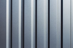 Texture of gray corrugated metal Stock Images
