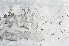 Texture gray cracks on old wall Royalty Free Stock Photos