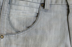 Texture of Gray Denim Jeans Part of Trousers. Stock Images