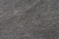 Texture of gray jeans. Royalty Free Stock Images