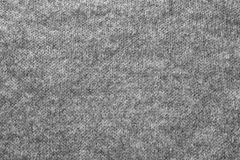 Texture of gray knitted wool fabric Stock Photos