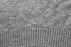 Texture of gray knitted wool fabric Stock Images