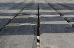 Texture of gray old natural wood planks Stock Photography