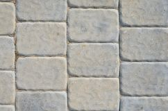 Gray Sidewalk Texture. The Texture of the Gray Paving Stone from Artificial Stones. Gray Sidewalk Texture Stock Photography