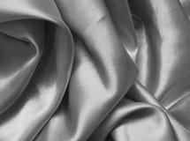 Texture gray satin, silk background Stock Photos