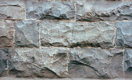 Texture of gray stone wall Royalty Free Stock Image