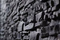 Texture of gray stonewall Royalty Free Stock Photography