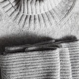 Texture of gray sweater Royalty Free Stock Image