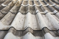 Texture of gray tile roof floor Stock Photography