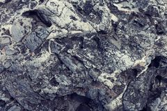 Texture of gray volcanic stone Stock Photo