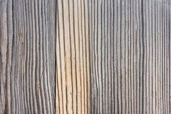 Gray wooden surface. Texture of a gray wooden surface closeup Royalty Free Stock Photography