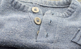 Texture - gray wool sweater Stock Image