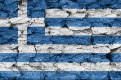 Texture of Greece flag. Texture of the Flag of Greece  on a decorative tree bark Royalty Free Stock Image