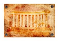 Texture of Greek colonnade Royalty Free Stock Images