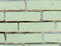 Texture of green bricks as background close up Royalty Free Stock Photo