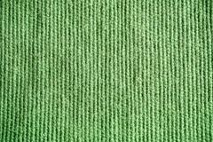 Texture of green burlap. Flax. Textile background close up. Macr Stock Image
