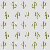 Texture, green cactus on a light blue background, red flowers. Design element, design packaging. Wallpaper, vector Stock Photos