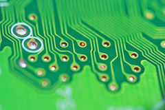 Texture, Green circuit board Royalty Free Stock Photo