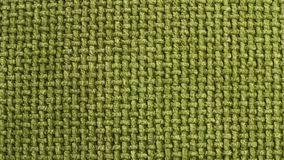 Texture of green cloth sacking Royalty Free Stock Images