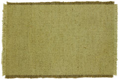 Texture of green coarse cloth Stock Photos