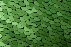 Texture of green color sequins stock photo