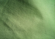 Texture of green fabric Stock Image