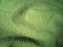 Texture of green fabric Royalty Free Stock Photo