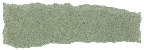 Fiber Paper Texture - Green with Torn Edges Stock Photo