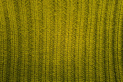 Texture of green knitted wool sweater Royalty Free Stock Images
