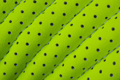 Texture of green leather with holes Royalty Free Stock Photos