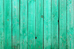 Texture of green painted wooden fence Royalty Free Stock Images